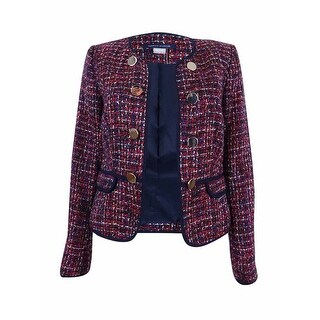 Tommy Hilfiger Women's Embellished Tweed Blazer - midnight multi