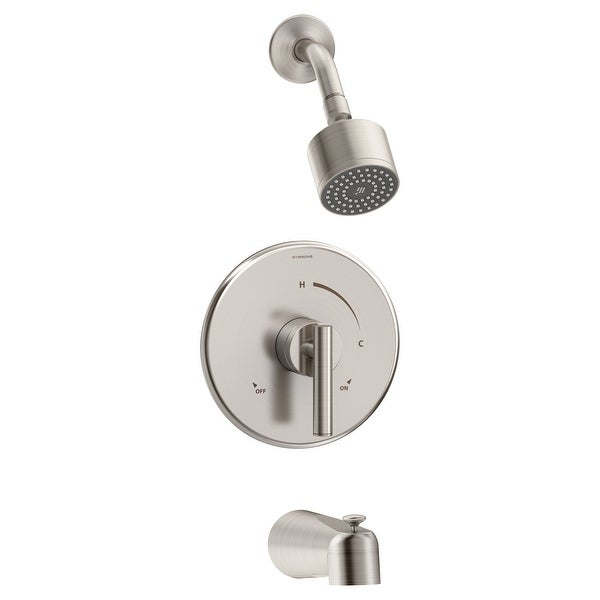 Symmons 3502-CYL-1.5-TRM Dia Tub and Shower Trim Package with 1.5 GPM Single Function Shower Head