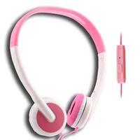 UMA - Lightweight 3.5mm Stereo Headphones - White / Pink