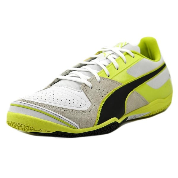 Puma Invicto Sala Men Round Toe Leather White Running Shoe