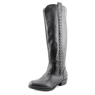 Mia Crossings Wide calf Women W Round Toe Synthetic Black Knee High Boot