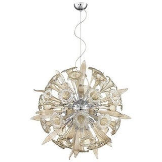 Cyan Design Remy Sixteen Light Pendant Remy 16 Light Pendant with Brown Shade - Silver