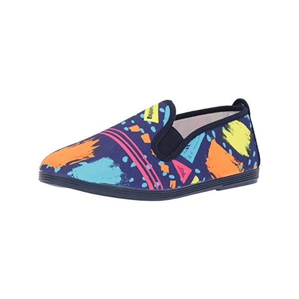 Flossy Style Womens Monda Loafers Canvas Printed