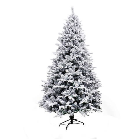 ALEKO Deluxe Snow-dusted Artificial 7-foot Christmas Tree