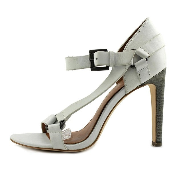 Elie Tahari Tornado Women Open Toe Suede White Sandals