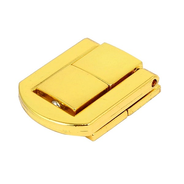 Suitcase Briefcase Toolbox Zinc Alloy Toggle Latch Hasp Lock Gold Tone 25mm Long