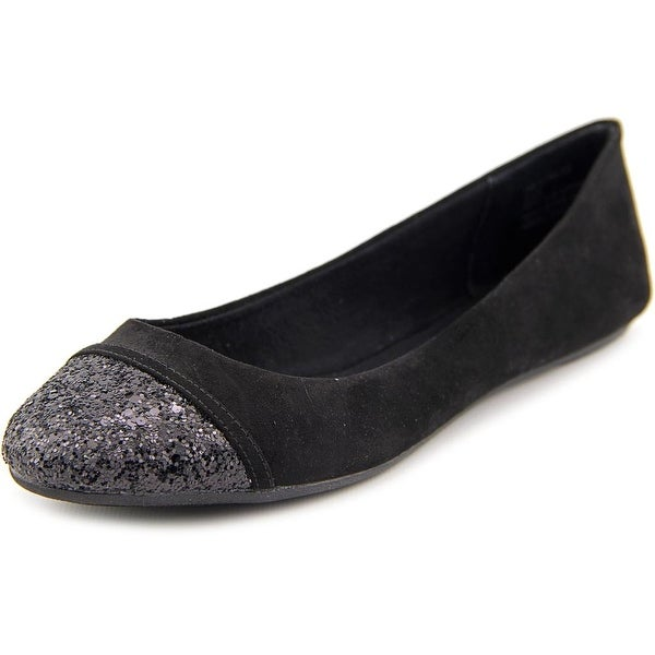 American Rag Chloe Women  Round Toe Canvas Black Flats