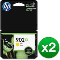HP 902XL High Yield Yellow Original Ink Cartridge (T6M10AN) (2-Pack)