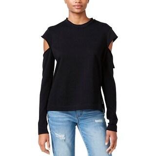 Rachel Rachel Roy Womens Pullover Sweater Cotton Cold Shoulder