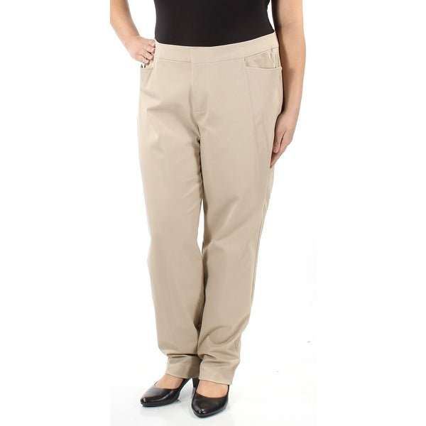 13d51a36468 Shop CHARTER CLUB Womens Beige Wear To Work Pants Size  4 - Free Shipping  On Orders Over  45 - Overstock.com - 22431764