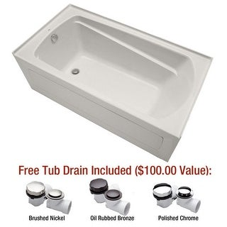 "Mirabelle MIRBDS6032L Bradenton 60"" X 32"" Three-Wall Alcove Soaking Tub with Lef"