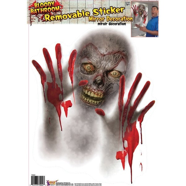 Bloody Creature Mirror Cover Halloween Decoration