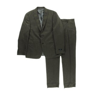Andrew Fezza Mens Pattern 2PC Two-Button Suit - 42R