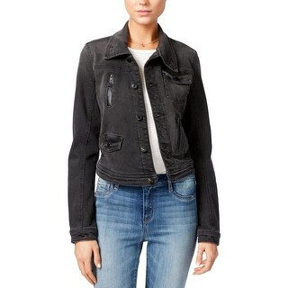 Guess Womens Denim Jacket Denim Long Sleeves