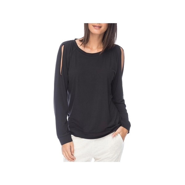 7f9a14c0d0000 Shop Bobeau Womens Pullover Top Cold Shoulder Long Sleeve - Free ...
