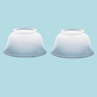 2 Lamp Shade White Glass Traditional 3 5/8 H x 4 Fitter