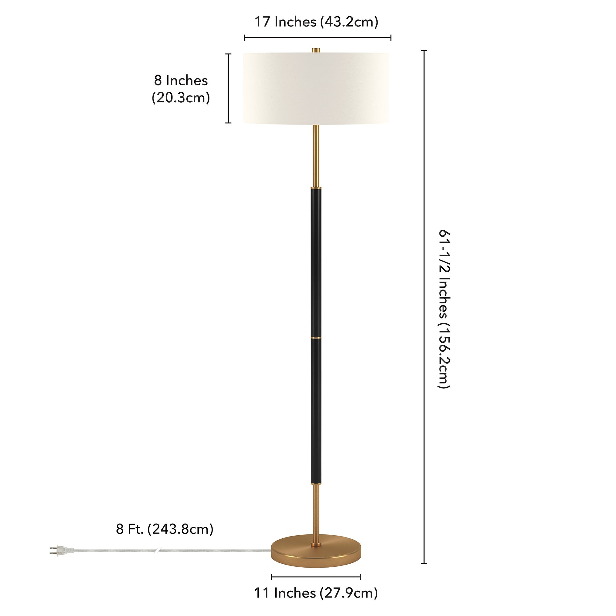 Silver-Orchid-Gotho-Matte-Black-Polished-Nickel-Floor-Lamp thumbnail 15