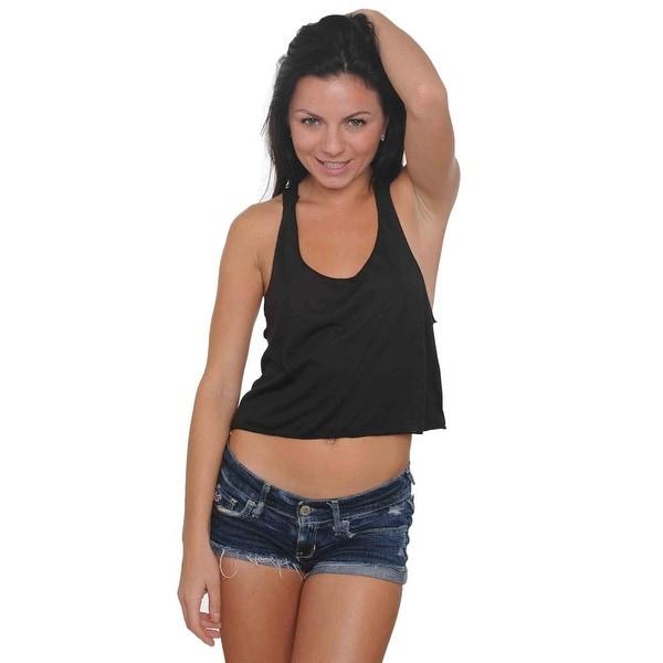 Women's Midriff Tank Top Ultralight Scoop Neck Beach Athletic Wear Gym Workout Radian Colors