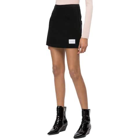 Calvin Klein Jeans Womens Mini Skirt Corduroy Mini