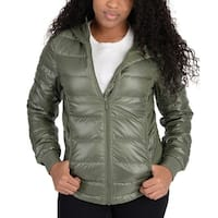 Adidas Womens Utility Low Down Jacket Olive Green - OLIVE GREEN