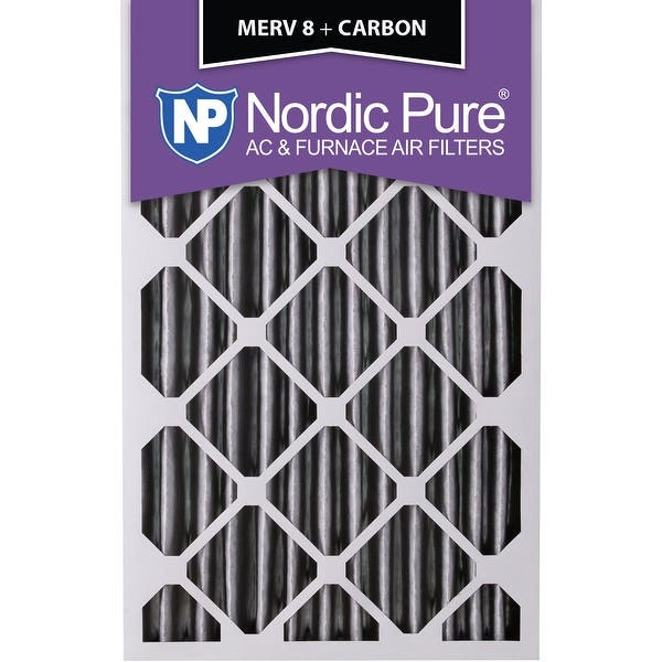 Nordic Pure 18x24x1 MERV 8 Pleated AC Furnace Air Filters 3 Pack