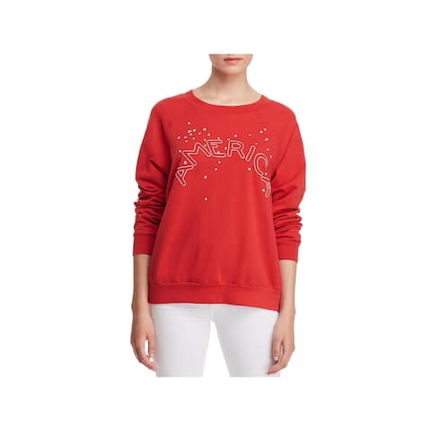 Project Social T Womens America Sweatshirt, Crew Graphic Pullover