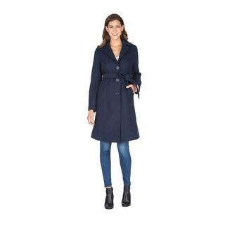 Link to Haute Edition Women' Walker Wool Blend 3/4 Belted Long Jacket Similar Items in Women's Outerwear
