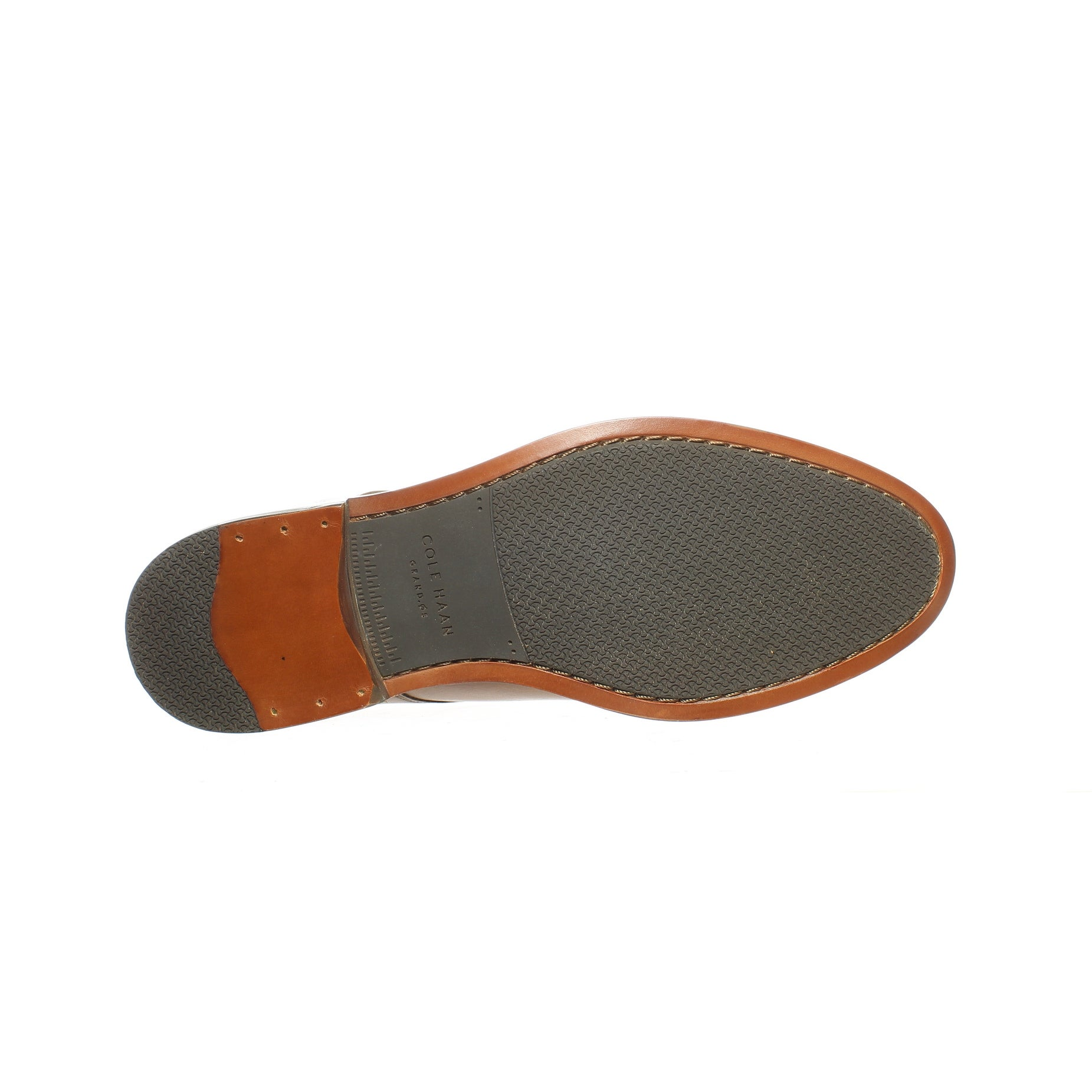 Cole Haan Mens Harrison Grand 2.0 British Tan Oxford Dress Shoe Size 11.5