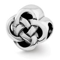 Sterling Silver Reflections Knot Bead (4mm Diameter Hole)