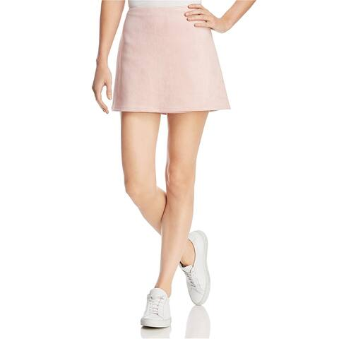 French Connection Womens Faux Suede Mini Skirt