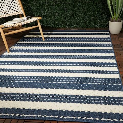 Caldwell Nautical Stripe Indoor/Outdoor Area Rug