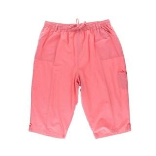 Karen Scott Womens Plus Comfort Waist Pull On Capri Pants - 0X