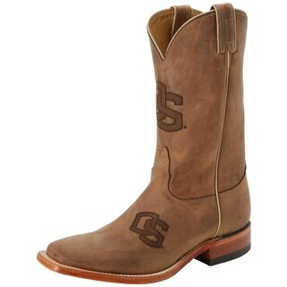 Nocona Boots Mens Oregon State Leather Branded Cowboy, Western Boots
