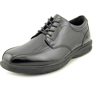Nunn Bush Mulberry St. Men Apron Toe Leather Black Oxford