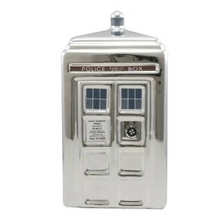 Doctor Who Silver TARDIS Ceramic Money Bank - Multi