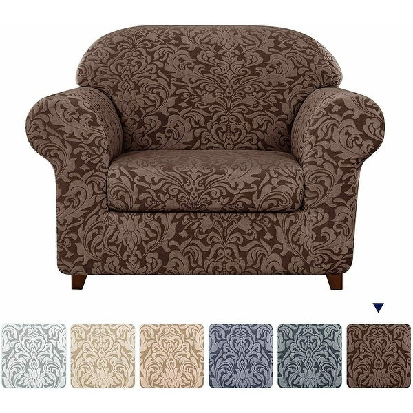 Subrtex 2-Piece Stretch Armchair Couch Cover Jacquard Damask Slipcover. Opens flyout.