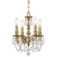 "Crystorama Lighting Group 5504-CL-SAQ Gramercy 4-Light 11"" Wide Chandelier with Clear Spectra Crystals"