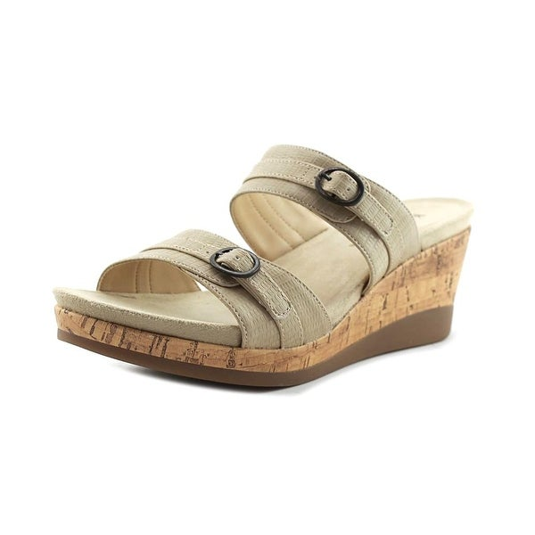 Kim Rogers Gracey Women Open Toe Synthetic Tan Platform Sandal