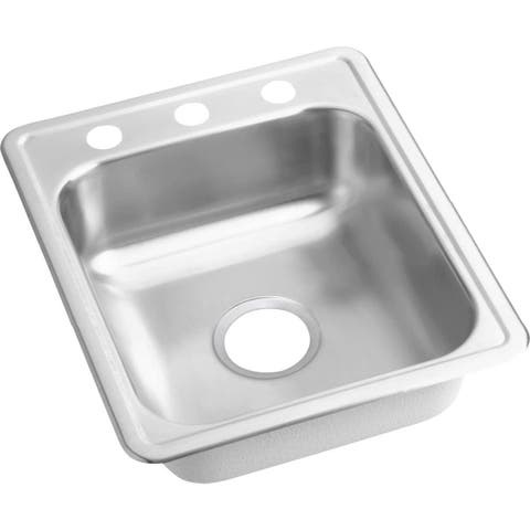 """Elkay D11721 Dayton 17"""" Single Basin Drop-In St"""