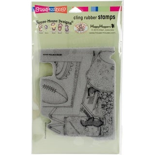 """Stampendous House Mouse Cling Stamp 7.75""""X4.5""""-Game Day"""