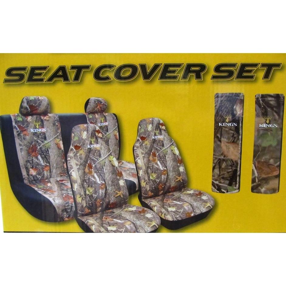 Brilliant 5Pc Kings Camo Woodland Camo Universal Auto Seat Covers Bench Bucket Evergreenethics Interior Chair Design Evergreenethicsorg