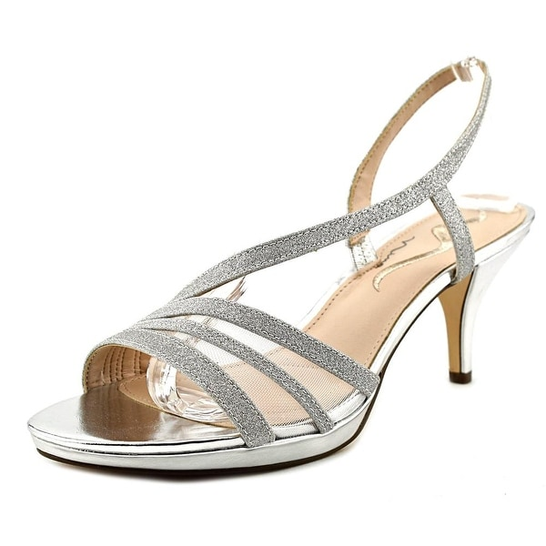 Nina Nelda Women Open Toe Synthetic Silver Sandals
