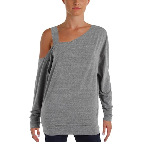We The Free Womens Saratoga Casual Top Heathered Cold Shoulder