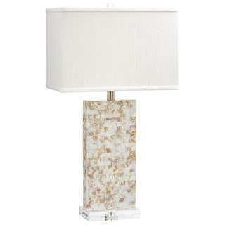 Cyan Design Palm Sands Table Lamp Palm Sands 1 Light Accent Table Lamp with White Shade - mother of pearl
