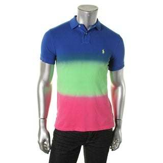 Polo Ralph Lauren Mens Colorblock Custom Fit Polo - S