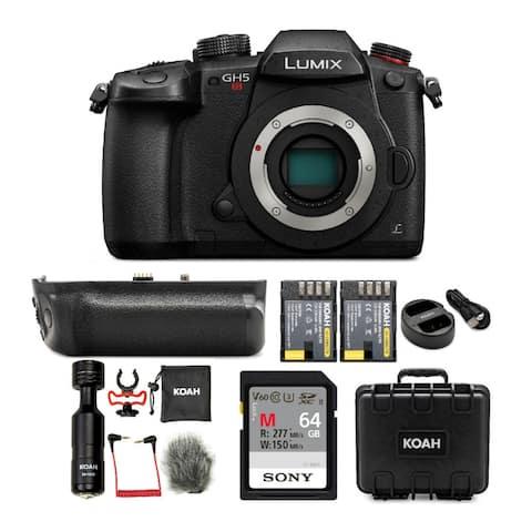 Panasonic LUMIX GH5s 4K Mirrorless Camera Body with 64GB Card Bundle