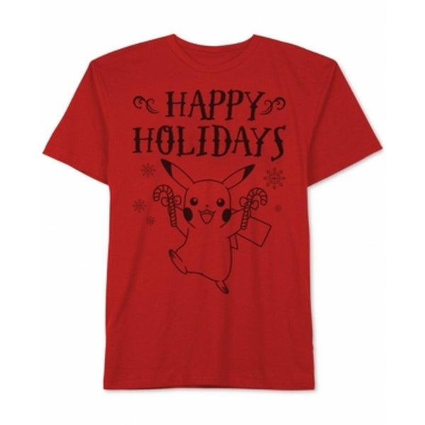 90831320 Shop Pokemon NEW Red Mens Size Medium M Pikachu Holiday Graphic Tee T-Shirt  - Free Shipping On Orders Over $45 - Overstock.com - 19536236