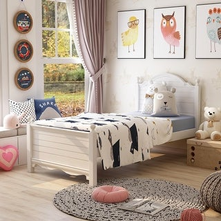 Link to Copper Grove La Mer Transitional Plank Style Youth Platform Bed Similar Items in Kids' & Toddler Furniture
