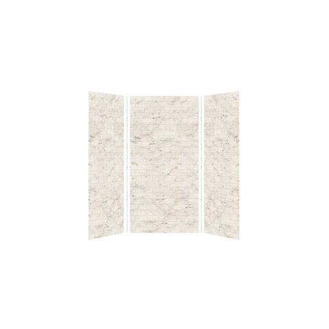 """Transolid SaraMar 36-In X 48-In X 96-In Glue to Wall Shower Walls - 48"""" x 36"""" x 96"""""""