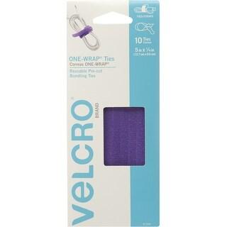 "Velcro(R) Brand One-Wrap(R) Ties 5""X14"" 10/Pkg-Purple"